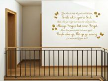 "Homely ""Smile when you're sad..."" Wall Sticker, Adhesive, Vinyl, Art, Decal"